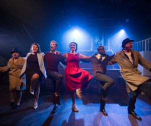 Andrea Miller, Emily Jane Kerr, Christian James, Tori Allen-Martin, Prince Plockey and Christopher Lyne in H.R.Haitch (Credit of Nick Rutter)