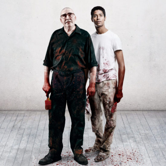 Red-image-of-Alfred-Molina-and-Alfred-Enoch-by-Johan-Persson-724x1024