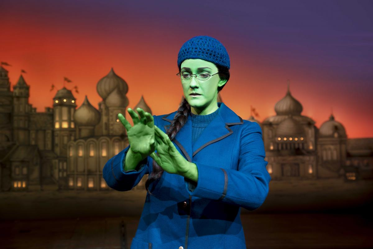 (1) Alice Fearn (Elphaba) in Wicked at The Apollo Victoria Theatre Photo Matt Crockett