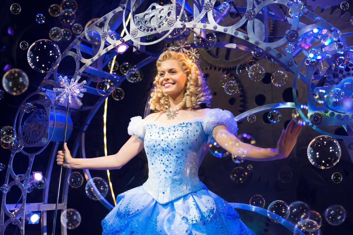 (3) Sophie Evans (Glinda) in Wicked at The Apollo Victoria Theatre Photo Matt Crocket